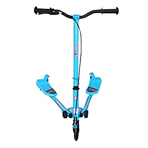 Buy The FoxHunter Blue Mini Tri Push Scooter Swing Motion Trike Slider Striker Drifter for kids