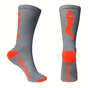 Basketball Socks Half Cushioned Crew Socks - Gray/Orange