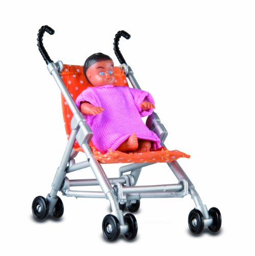 1:18 Scale Dolls House Smaland Pushchair Baby By Lundby