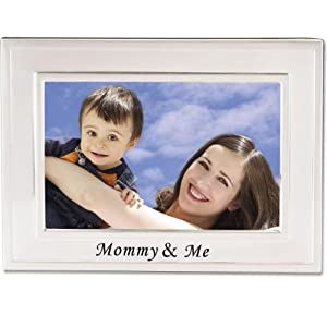 Lawrence Frames Sentiments Collection, Brushed Metal 4 by 6 Mommy and Me Picture Frame