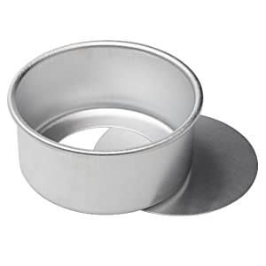Ateco Aluminum Cake Pan with Removable Bottom, Round, 6- by 3-Inch