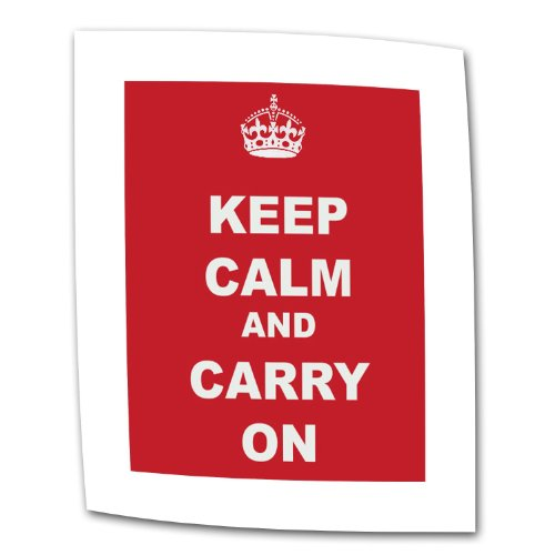 Art Wall Keep Calm and Carry on by The United Kingdom Rolled Canvas Art, 18 by 24-Inch