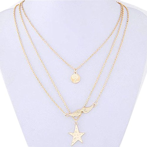 Shining Diva Fashion Multilayer Stylish Statement Necklace For Girls and Women