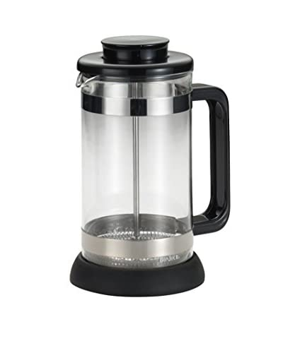 BonJour 8-Cup Riviera French Press with Coaster & Scoop, Black
