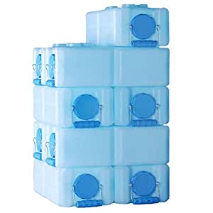 WaterBrick 3.5 Gallon BPA FREE Portable and Stackable - 10 Pack