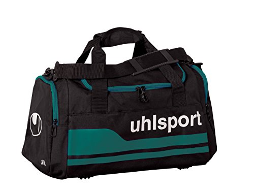 Uhlsport Borsa sportiva, Borsone sportivo Basic Line 2.0, Nero (Schwarz/Lagune), S