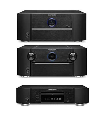 Marantz AV8801 A/V Preamplifier, MM8077 Power Amplifier and UD7007 3D Ready Universal Disc Player Bundle by Marantz