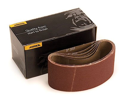 "Mirka Sanding Belts 2-1/2"" x 14"" Hiolit X Cloth 60 Grit (5 belts)"