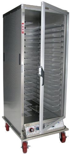Lockwood CA72-PF-CD-R Aluminum Full Height Non-Insulated Mobile Proofing and Holding Cabinet with Universal Tray Supports and Clear Door, 35 Pan Capacity, 28-1/2