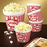 Movie Night Ceramic Popcorn Bowls, Set of 5