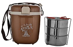 Nayasa Electric Plastic Tiffin,(Color may vary)