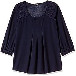 Harpa Women's Body Blouse Shirt (GR3160-NAVY_S)