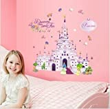 Good! Special Removable Disney Castle Wall Sticker Mural Art PVC Wall Paper New.