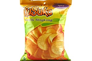 Cassava Chips (Spicy Flavor) 7oz (Pack of 6)