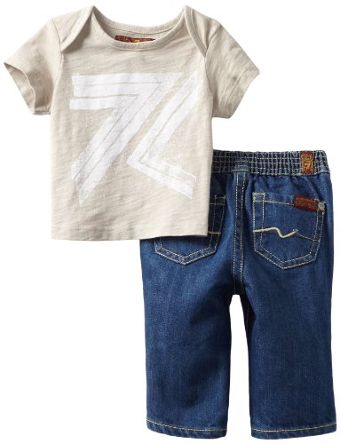Hot Deal 7 For All Mankind Baby-boys Newborn Boxed Gift Set, Moonstruck/Medium Indigo, 3-6 Months  Review
