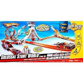 Trick Tracks Hot Wheels World Stunt colosal conjunto de Acrobacias