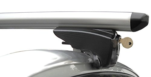 Einfacher Aluminium Dachträger 90303669 für BMW Serie 5 Touring mit integrierter Dachreling (Bündige Schiene) für U-Bügel Montage oder T-Nut Montage mit 20 mm Breite