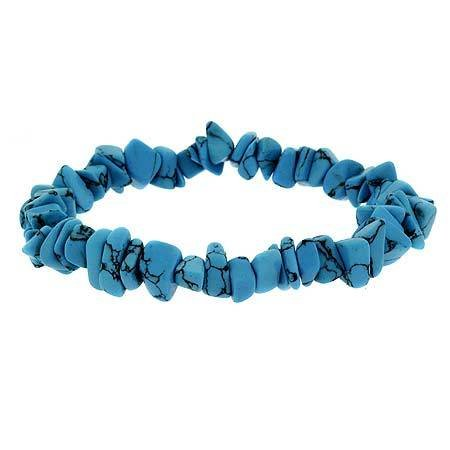 Stretch Turquoise Stone Chip Bracelet