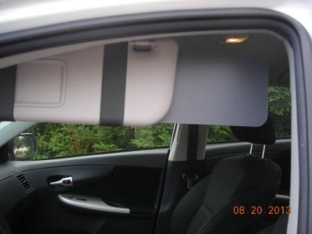 1 pair Gray Visormates Sun Visor Extenders to fit 2010 and newer Prius,Lexus CT 200h (Sun Shade Prius compare prices)