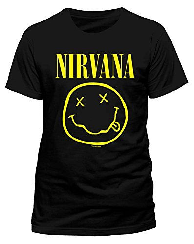 NIRVANA Men's Nirvana - Smiley Short Sleeve