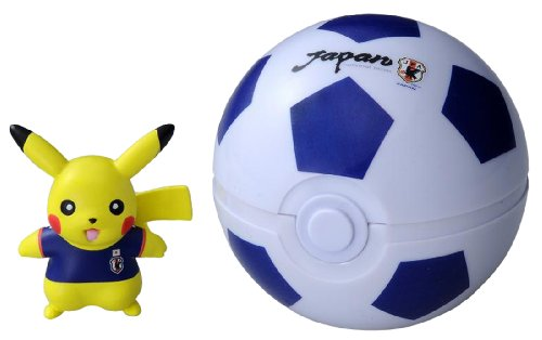 Pokemon Japan national football team with Pokemon Monster Collection Japan representative Pikachu