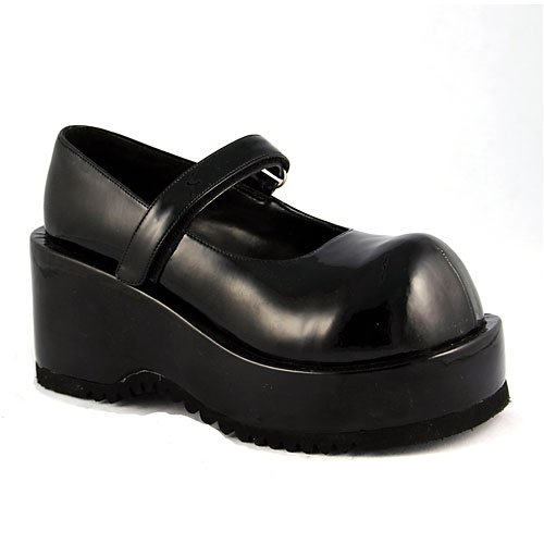DOLLY 3 1/4  P/F Black Pu Shoes