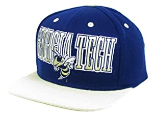 Buy adidas Georgia Tech Yellow Jackets Navy & Beige Flat Brim Snapback Hat by NCAA-adidas