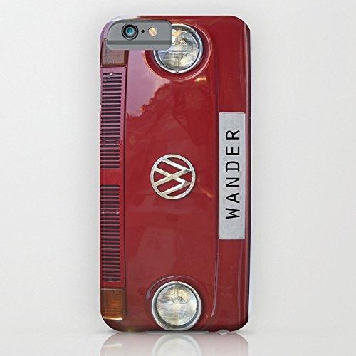 iPhone6ケース[4.7インチ] society6(ソサエシティシックス) Wander wolkswagen. Summer dreams. Red フォルクスワーゲン デザイナーズ iPhoneケース 正規輸入品
