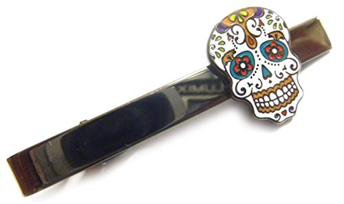 Day of the Dead Skull Mask Tie Bar