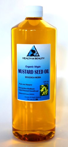 Mustard Oil Unrefined Organic Carrier Cold Pressed Pure 64 Oz front-873666