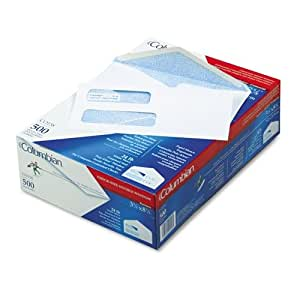 Columbian Business Envelopes, Gummed, 3 5/8 x 8 5/8 Inch, Double-Window, White, 500 Per Box (CO158)