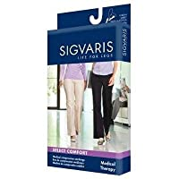 Sigvaris 863NS Select Comfort Thigh High With Grip Top Women's Closed Toe 30-40mmHg, S4, Natural
