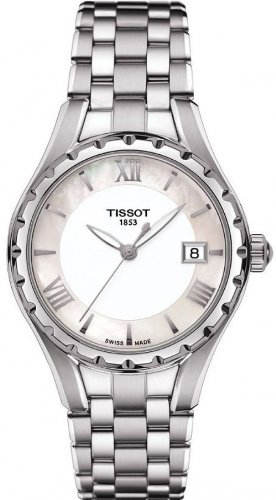 Tissot T-Lady Mother of Pearl Dial Stainless Steel Ladies Watch T0722101111800