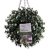 Gardman 30 cm Diameter Topiary Ball White Flower Effect