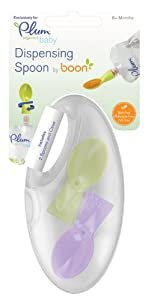 Plum Organics Baby Dispensing Boon Spoon, 2-Count Packages (Pack of 4)