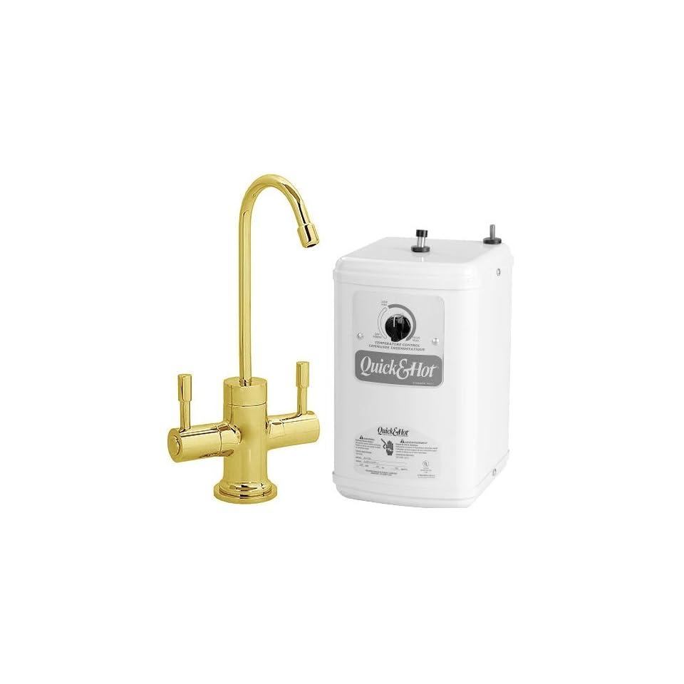 Westbrass D2051 01/QHT 1 Pol Brass Hot/Cold Faucet