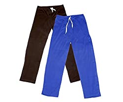 Indistar Women Super Combo Pack 4 (Pack of 2 Lower/Track Pant and 2 T-Shirt)_Brown::Blue::Purple::Gray _M