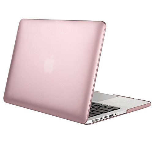 Mosiso Plastic Metallic Coated Hard Case Cover for MacBook Pro 13 Inch with Retina Display (Models: A1502 and A1425), Rose Gold (Display Case Rose compare prices)