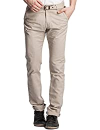 Beevee Men's Cotton Tapered Trousers