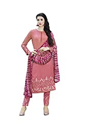 texclusive designer semi-stiched straight fit long salwar suit material.