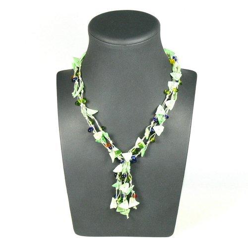 Franki Baker Green Shell & Glass Multi-strand Necklace (21