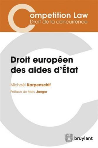 Droit européen des aides d'Etat