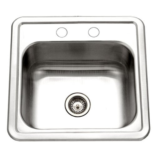 Houzer 1515-6BS Hospitality 15-by-15-Inch Drop-In Stainless Steel Bar Sink