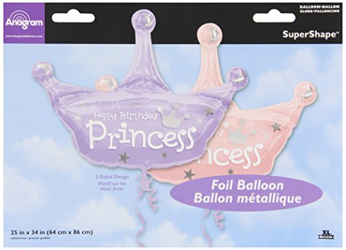Party Destination 161266 Princess Crown Jumbo 34 in. Foil Balloon - 1