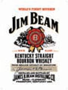 Blechschild Jim Beam - Kentucky Straight Bourbon Whiskey