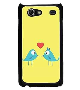 Love Birds 2D Hard Polycarbonate Designer Back Case Cover for Samsung I9070 Galaxy S Advance :: Samsung Galaxy S II Lite