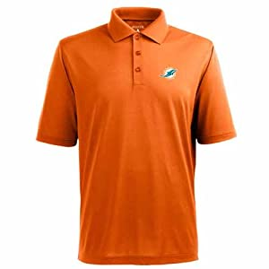 Miami Dolphins Pique Xtra Lite Polo Shirt (Team Color) by Antigua