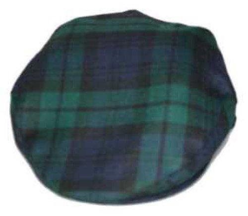 Mens Black Watch Tartan Wool Flat Cap