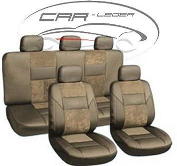 Autositzbezüge für Mercedes ML Klasse Universal 1+1 Vorne Schwarz Sitzbezüge