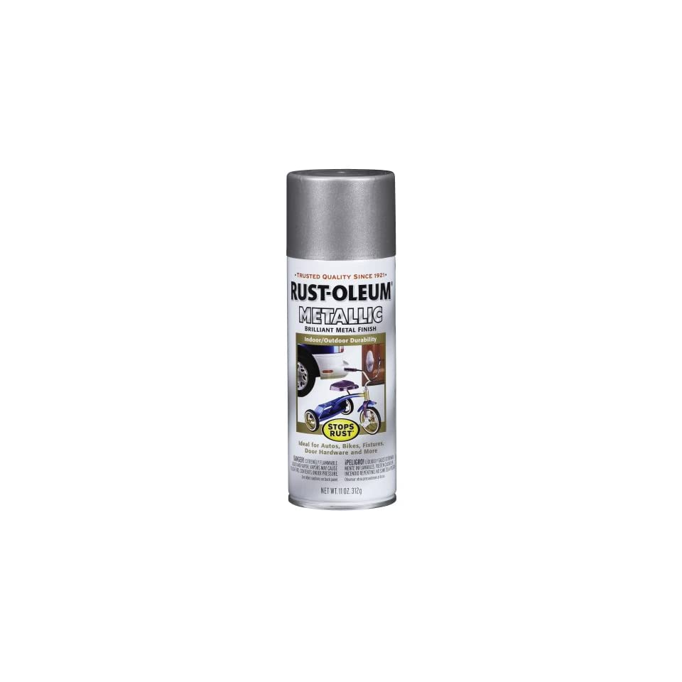Rust Oleum 243896 Designer Metallics Spray, Satin Nickel, 11 Ounce